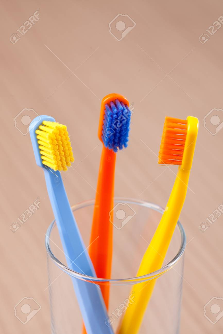 the photo shot of color toothbrushes Stock Photo - 6119117
