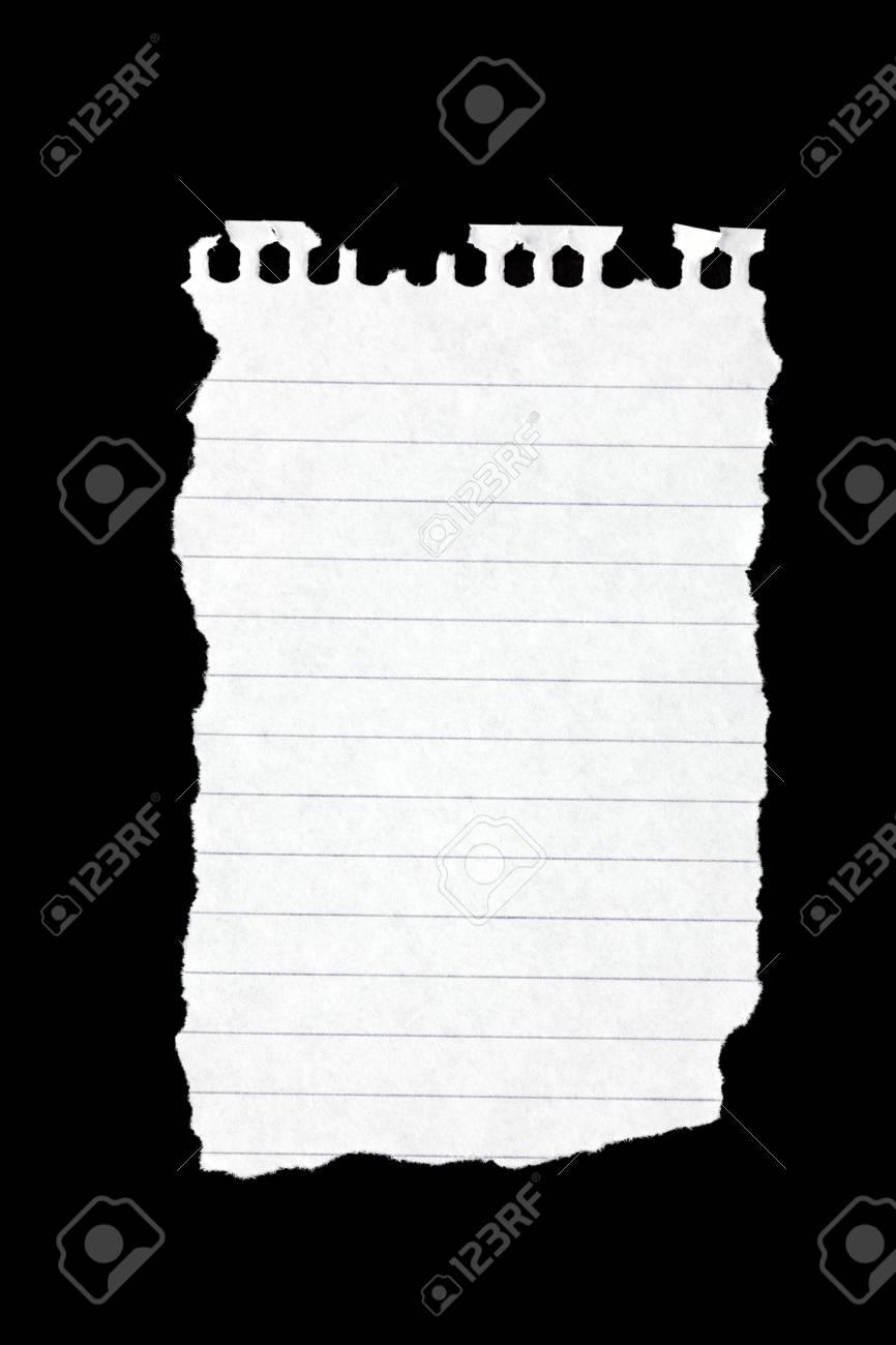 the photo shot tear paper on black paper Stock Photo - 6509743