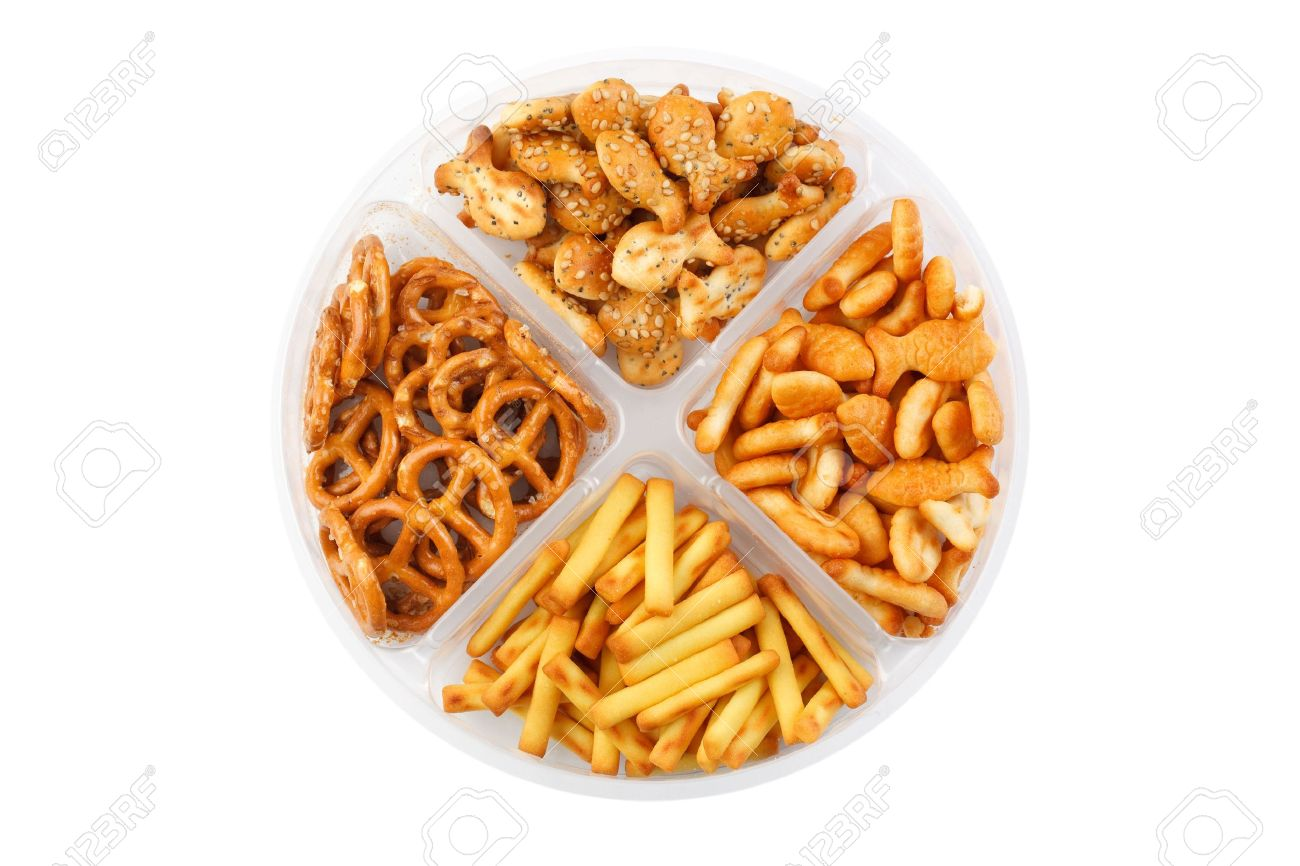 the photo shot of the salty snacks Stock Photo - 6629664