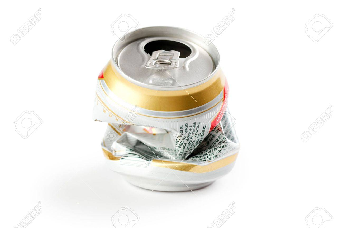 photo shot of crushed beer can Stock Photo - 6629656