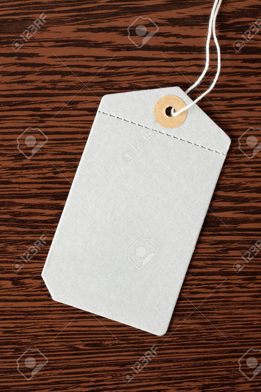 price tag on wooden background Stock Photo - 6907249