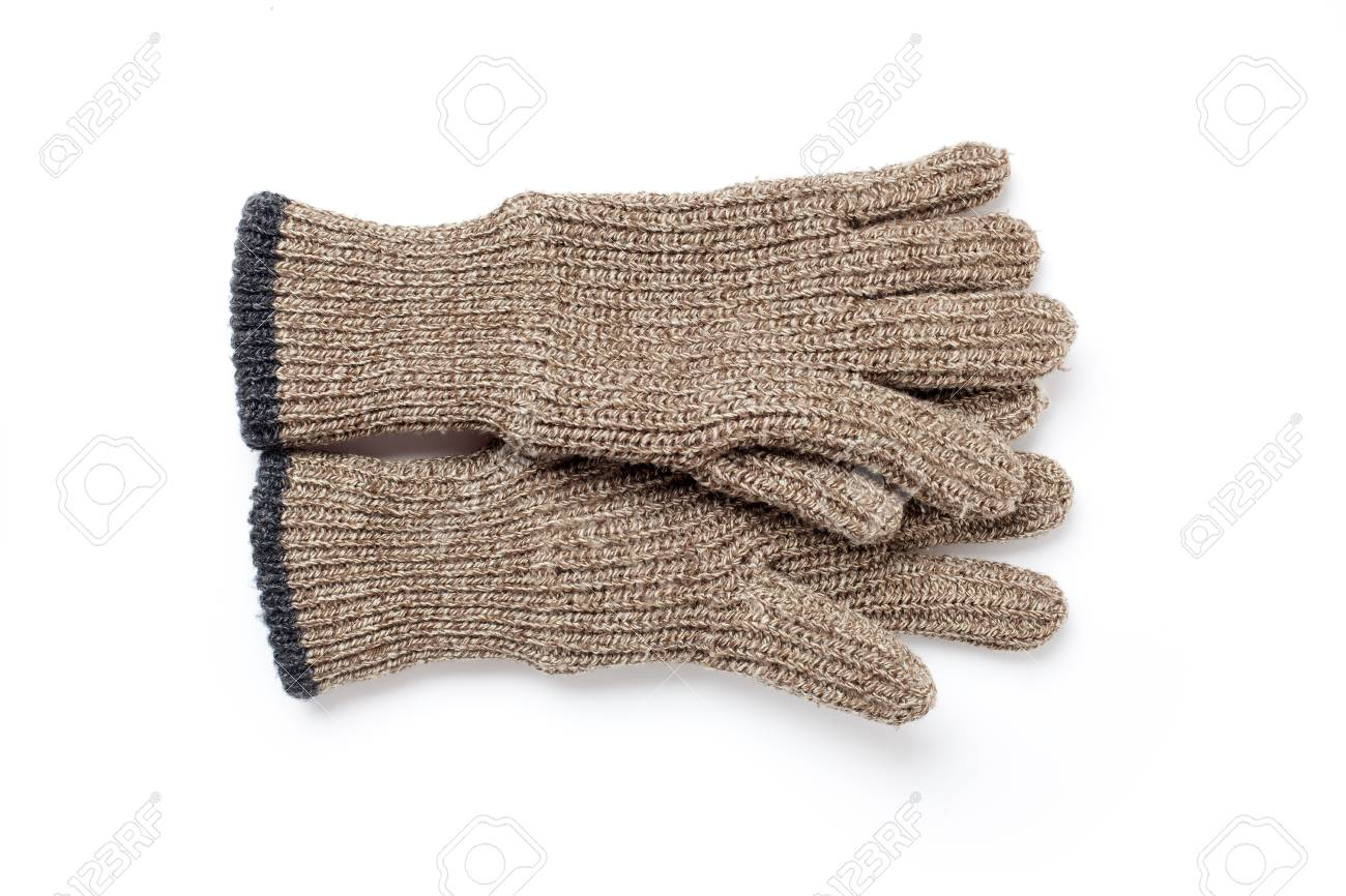 knitted gloves on white background Stock Photo - 7026388