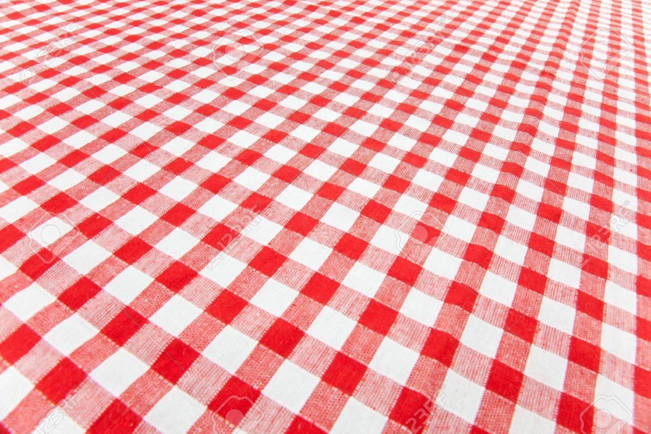 Checkered Tablecloth Stock Photo   7070382