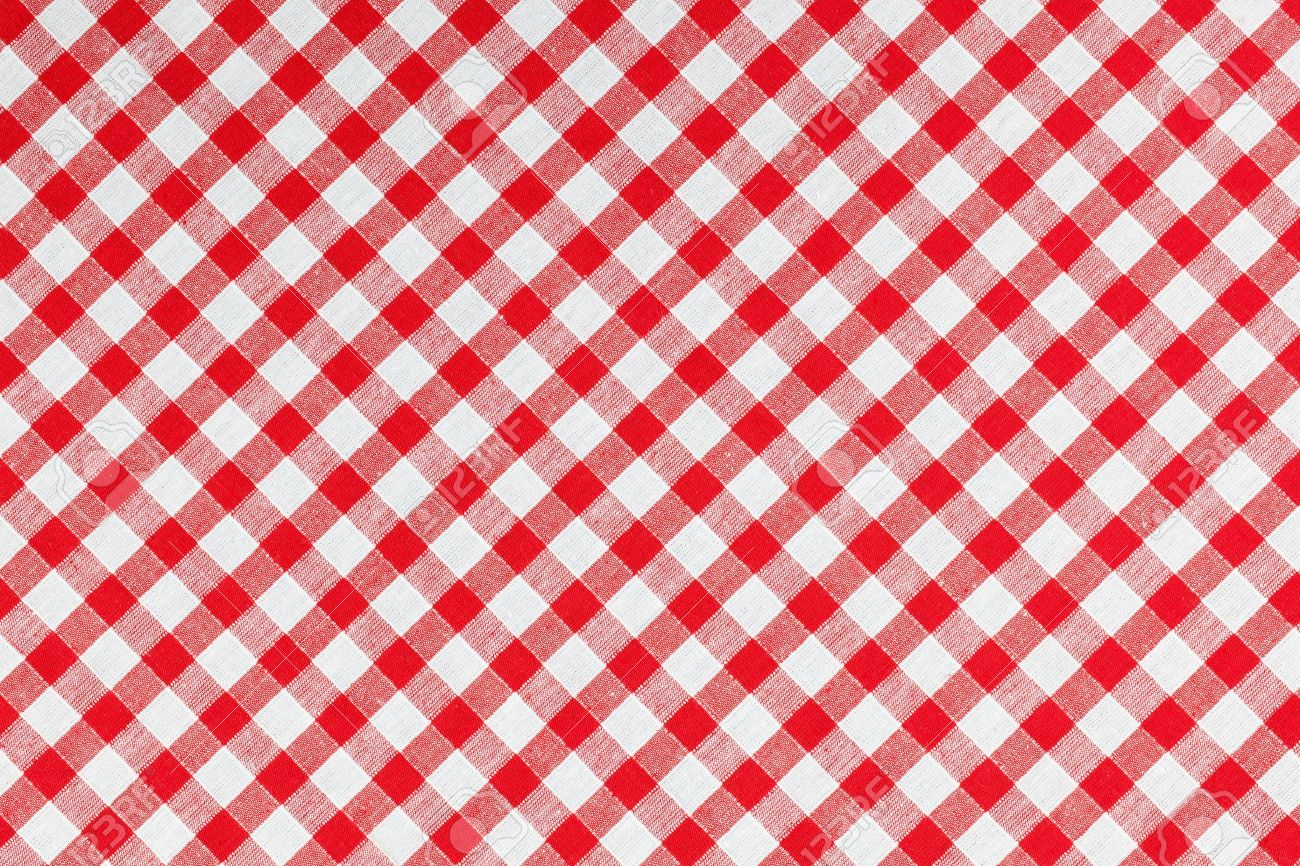 Photo Shot Of Checked Fabric , Tablecloth Texture Stock Photo   7213432