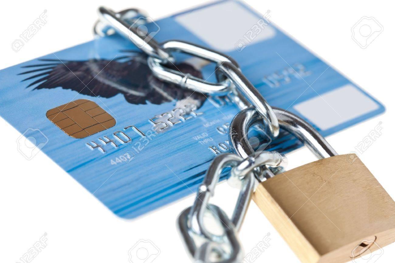 shot of locked credit card Stock Photo - 7266569