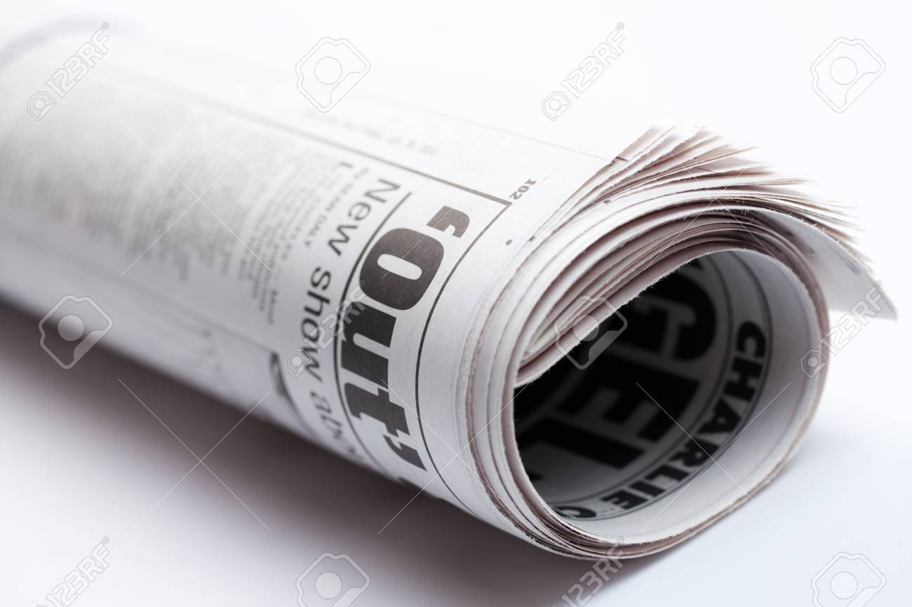 photo shot of roll of newspaper Stock Photo - 7615055