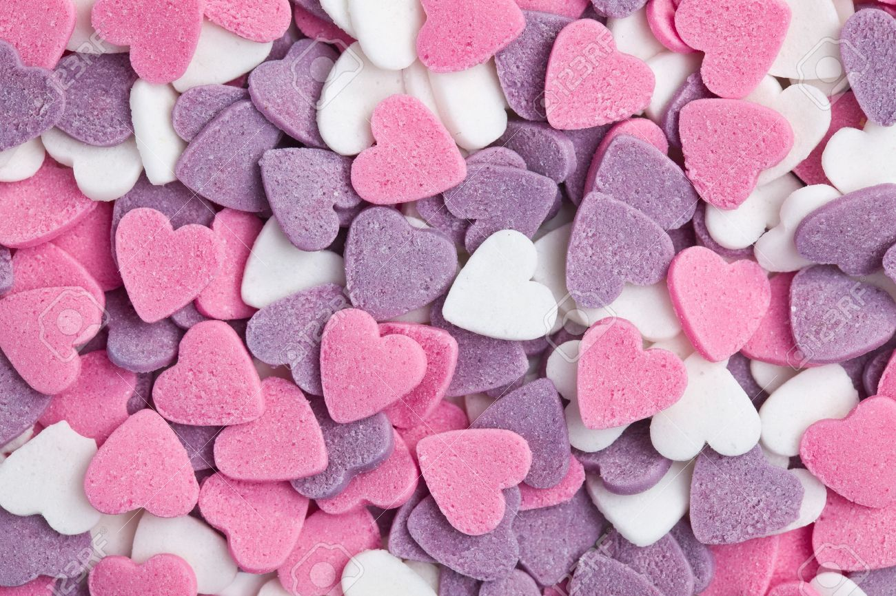 photo shot of colorful hearts background Stock Photo - 8670300