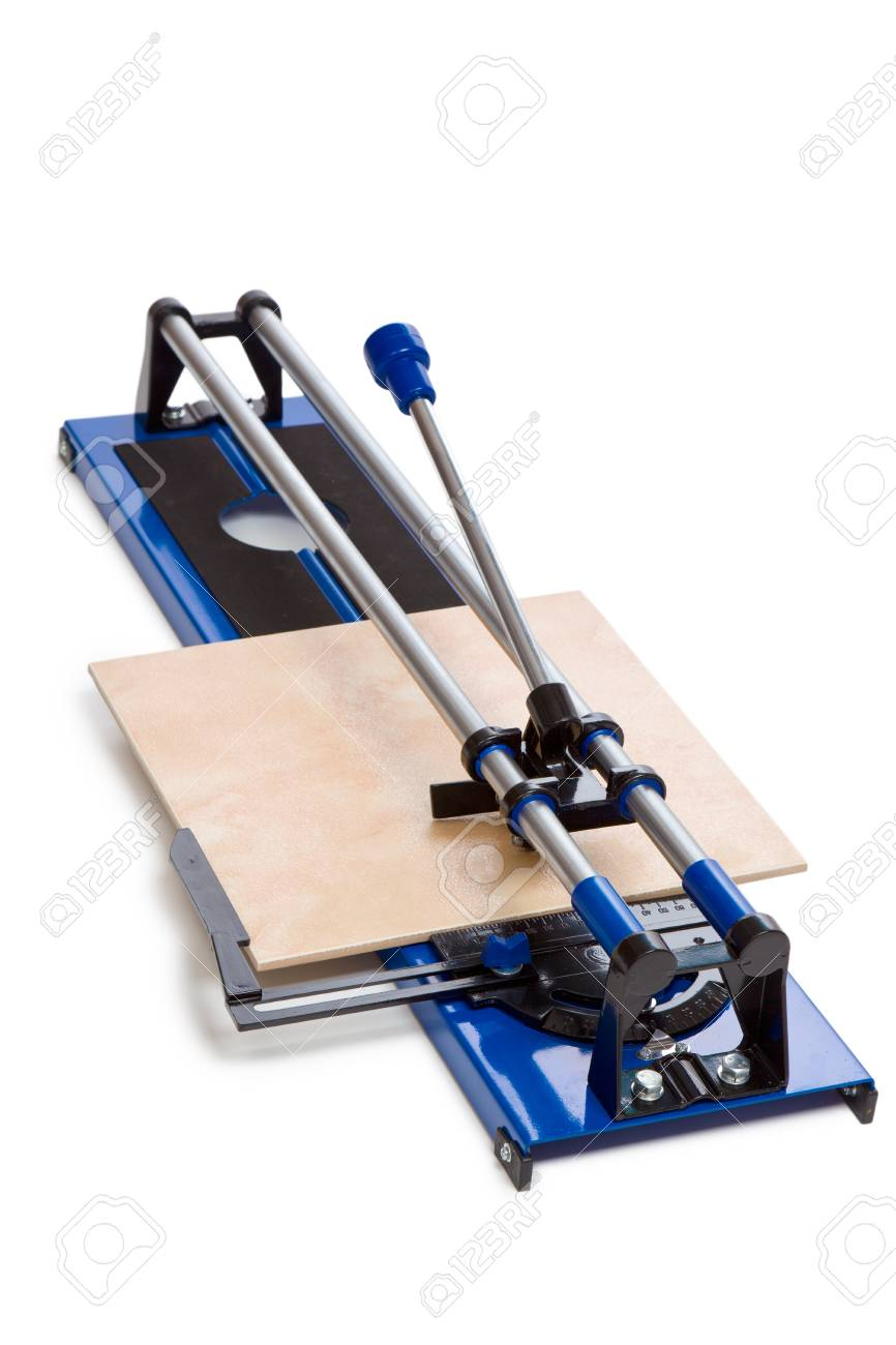 tile cutter on white background Stock Photo - 9305869
