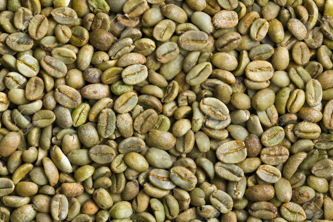 The Green Coffee Beans Background Stock Photo Picture And Royalty