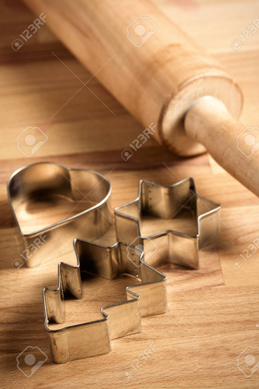 the christmas background with cookie cutters Stock Photo - 15758964