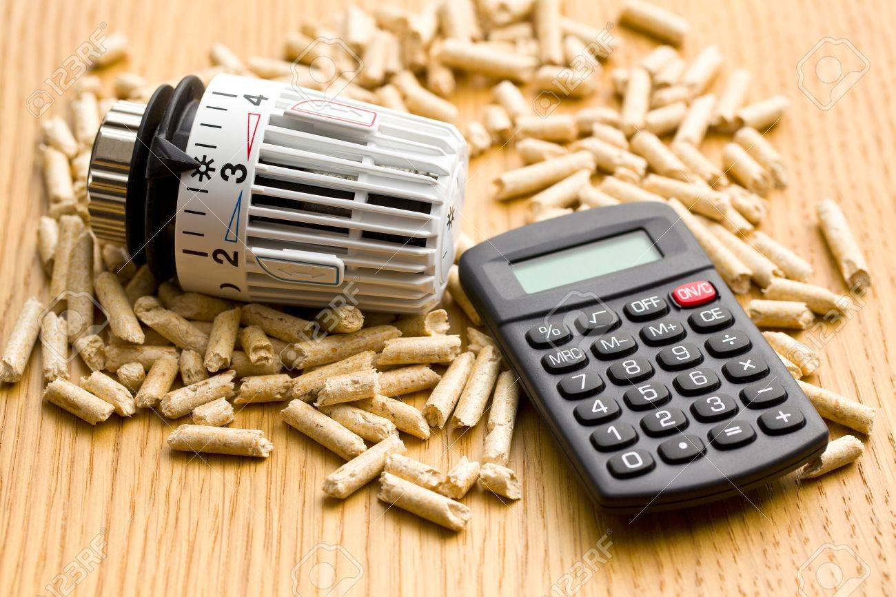 the wood pellets as ecological and economical heating Stock Photo - 16209266