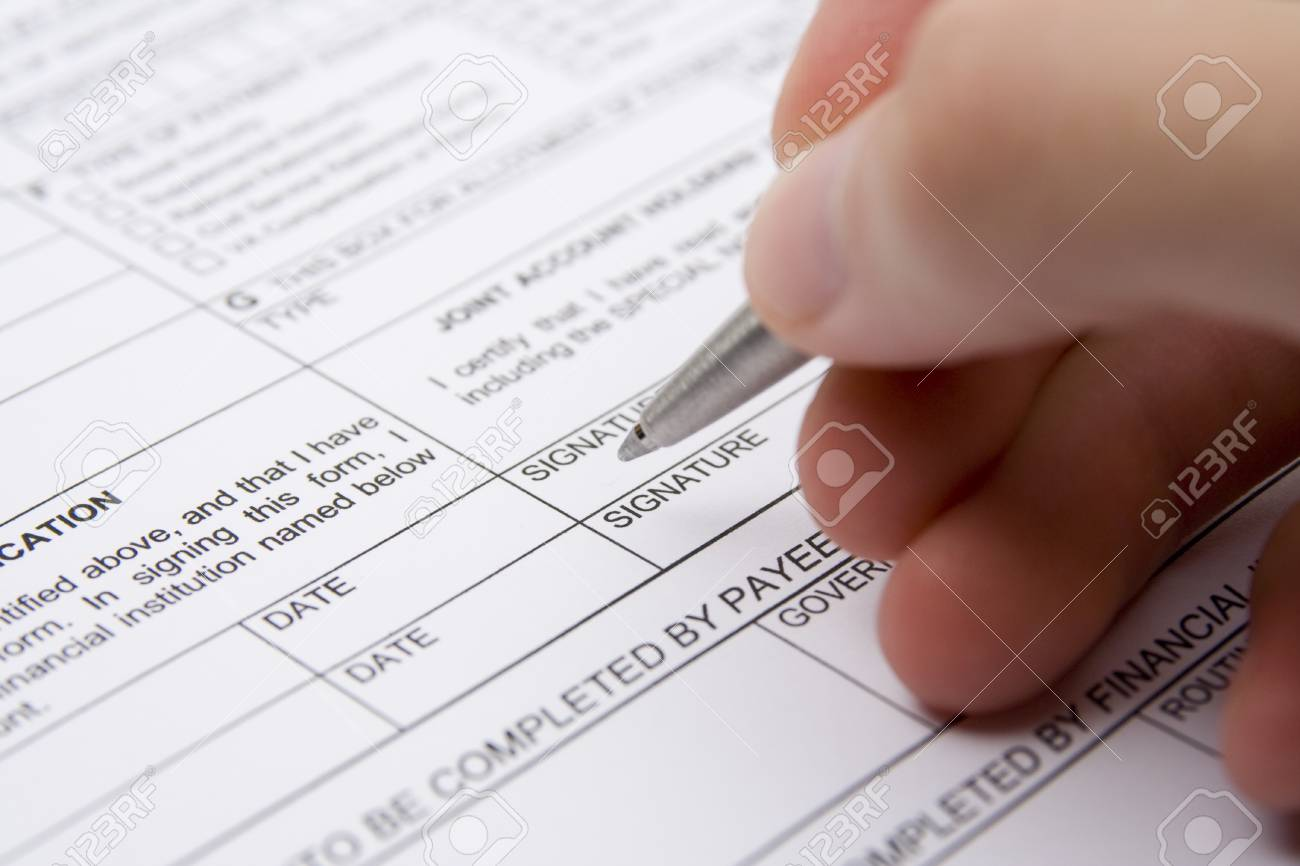 Karteninhaber Vereinbarung Füllen Sie Das Formular Lizenzfreie