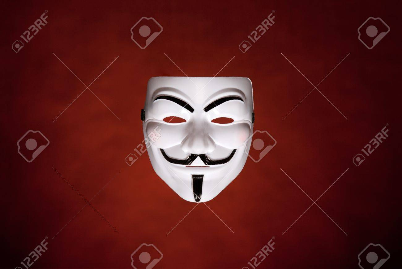 Studio Shot Of An Anonymous Face Mask Known As Guy Fawkes Mask
