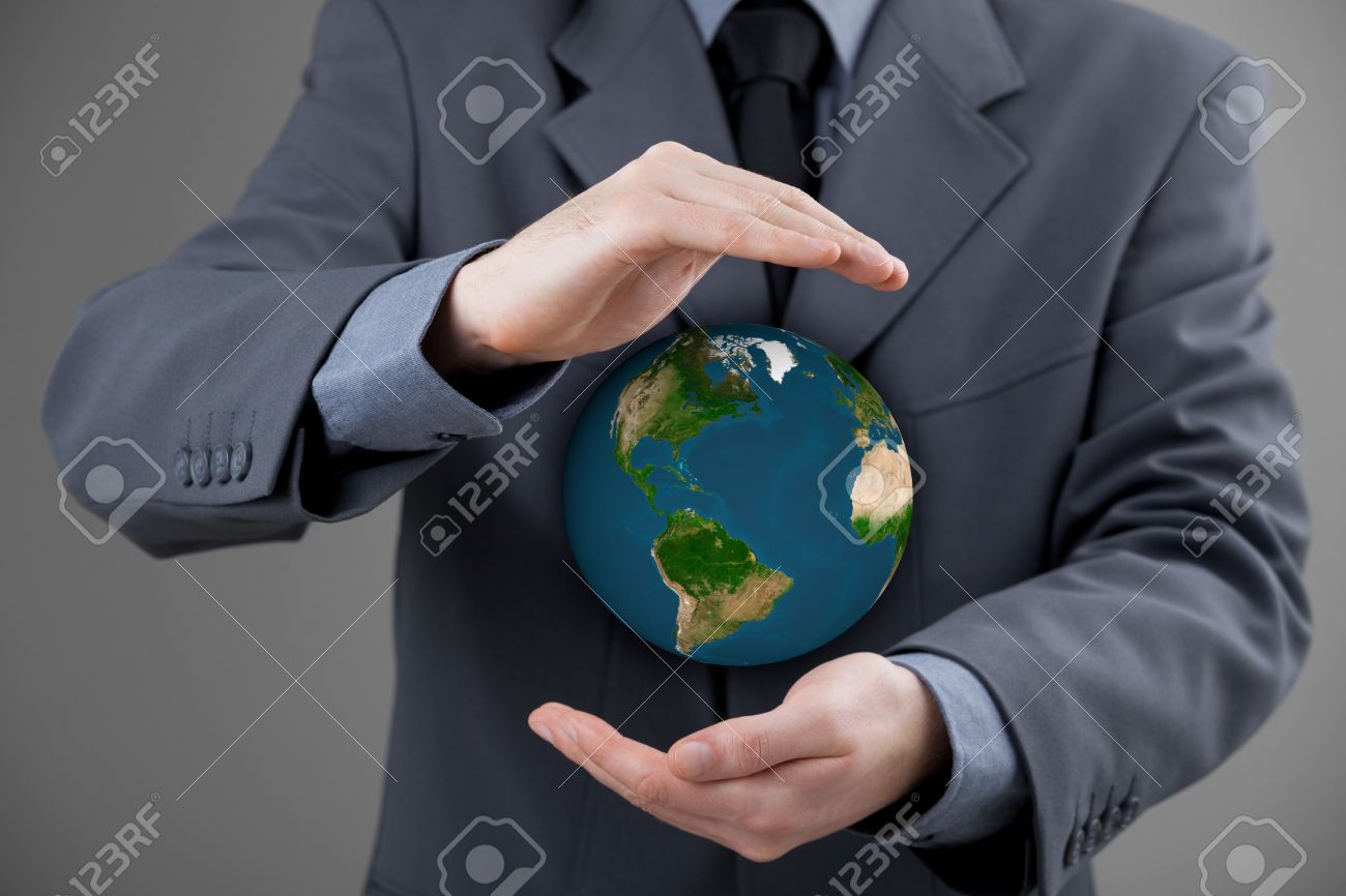 Business man protecting the earth sustainable responsible business business man protecting the earth sustainable responsible business eco friendly business global business biocorpaavc