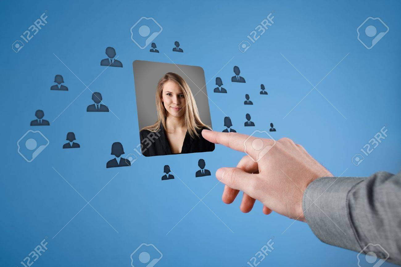 human resources crm professional social networking and data human resources crm professional social networking and data mining concept w stand out of