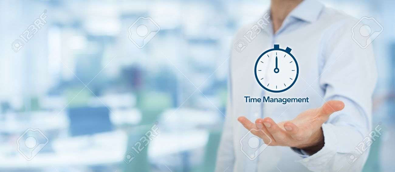 Time Management And Deadline Concept Businessman With Clock Stock Photo Picture And Royalty Free Image Image 40655974