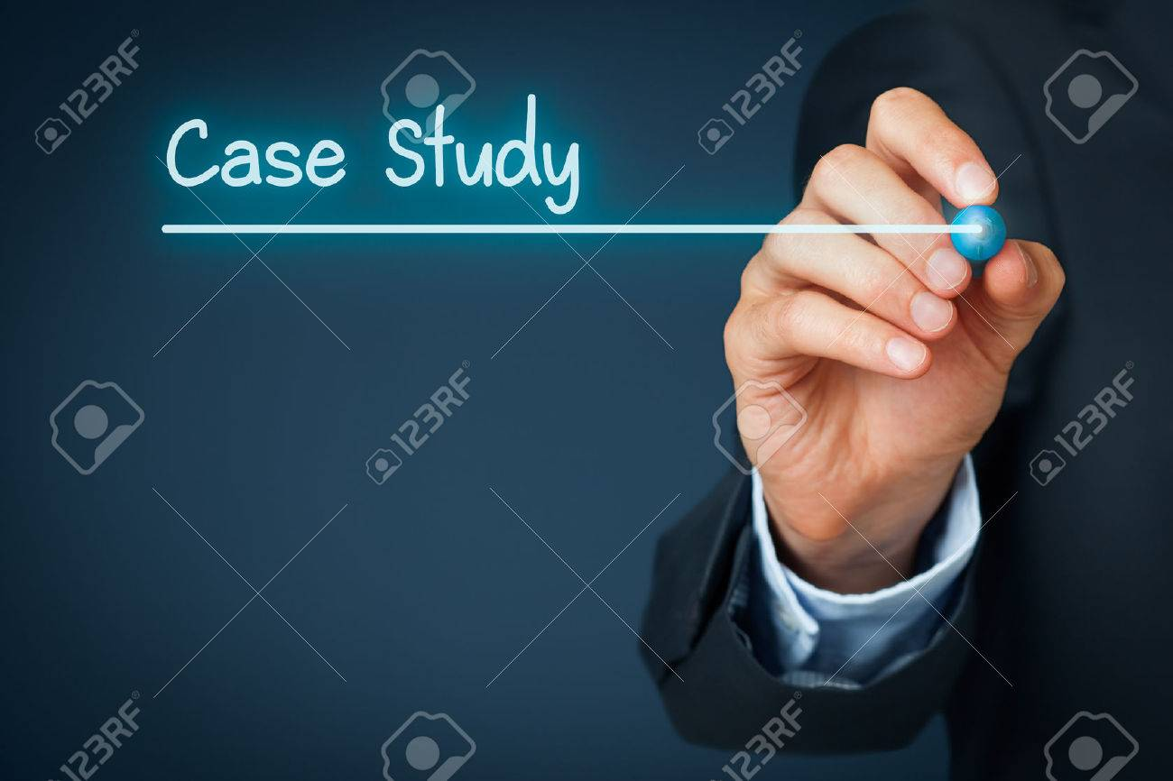 Case Study Heading - Background Template For Business Presentation ...