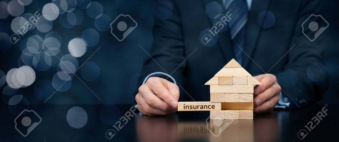Property (family house) insurance protection concept. - 53840381