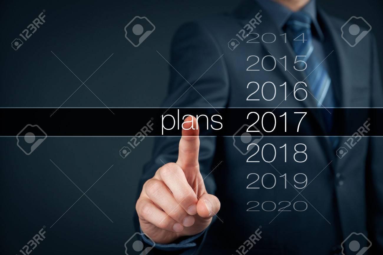 année de planification d'affaires 2017. Affaires nouvel an plans, objectifs et cibles concept. Banque d'images - 56358583