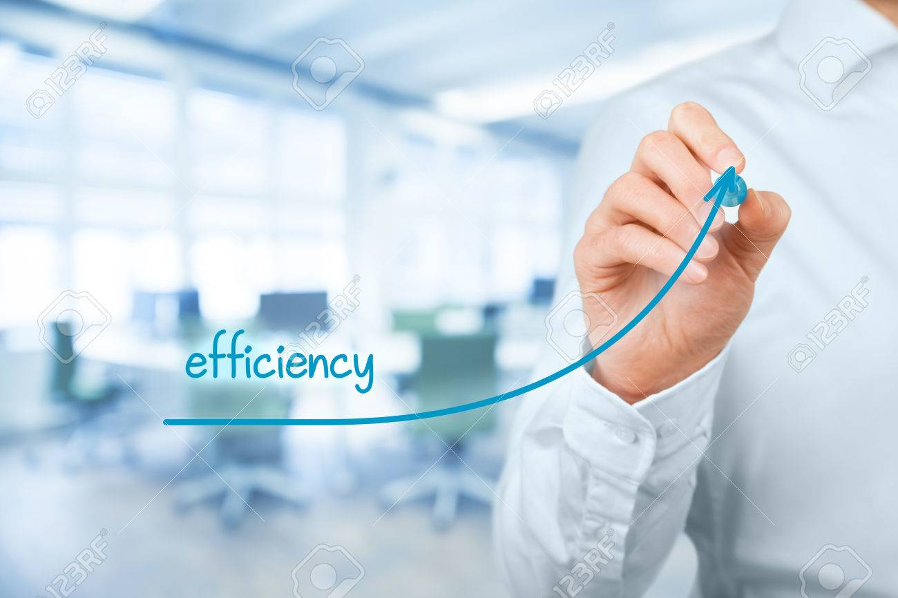 Manager (businessman, coach, leadership) plan to increase efficiency. - 59405802