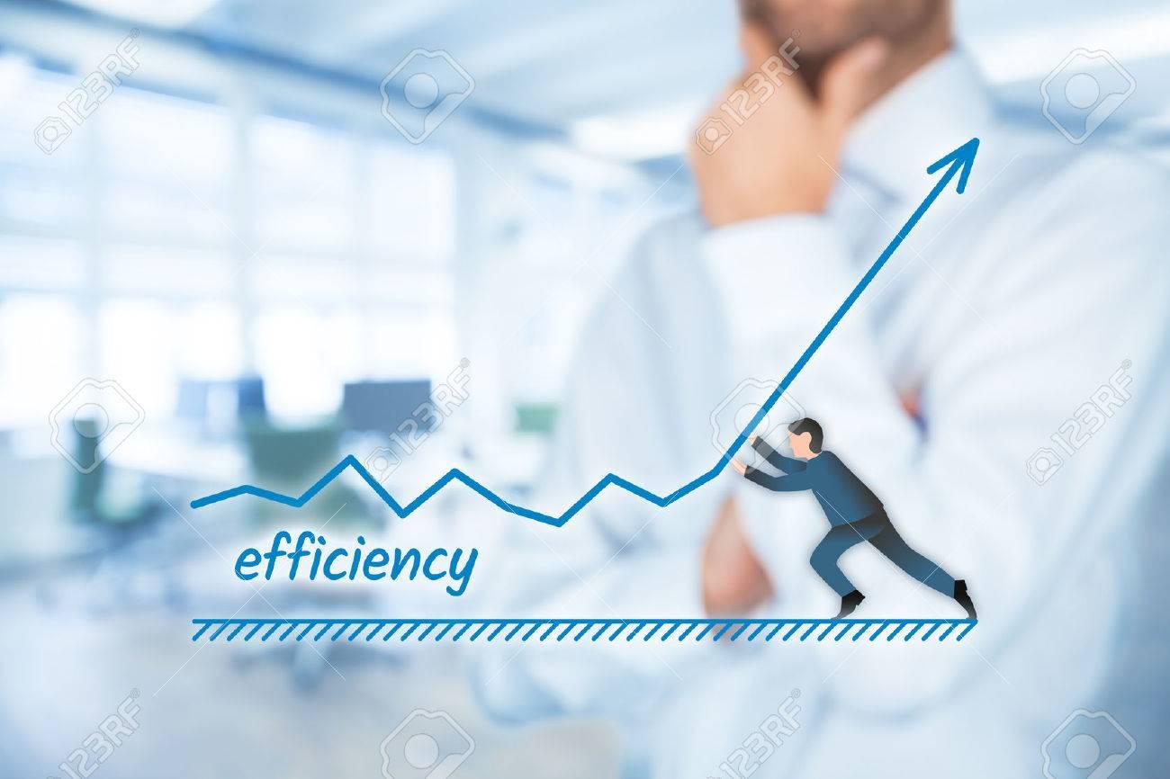 Manager (homme d'affaires, entraîneur, leadership) plan visant à augmenter l'efficacité. Banque d'images - 59405864