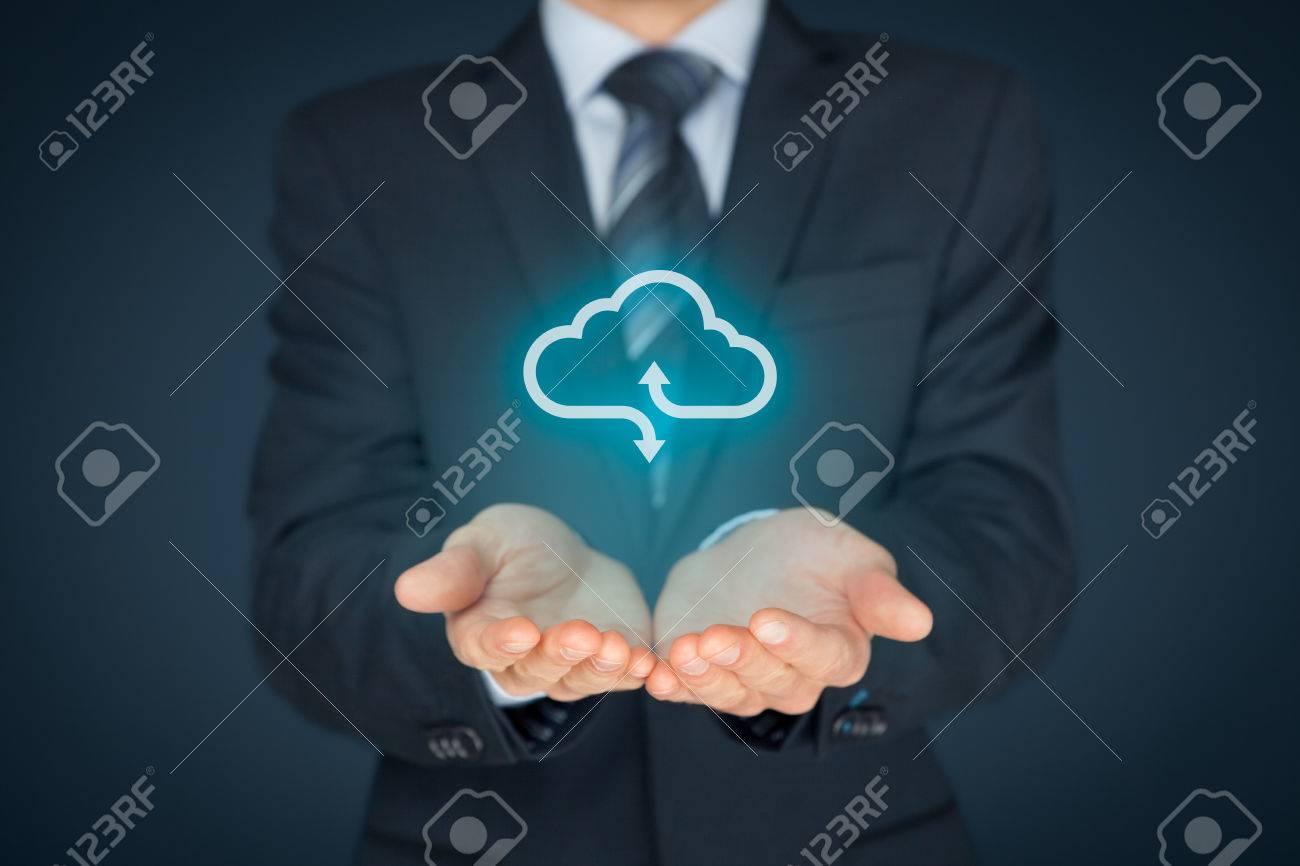 Concept de cloud computing - offre d'affaires offre un service de cloud computing représenté par une icône. Banque d'images - 60332813