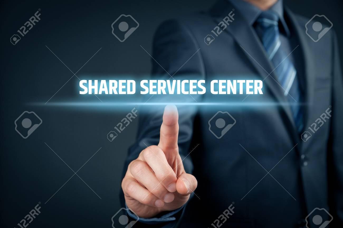 Shared services center ssc concept businessman click on text shared services center ssc concept businessman click on text shared services center publicscrutiny Gallery