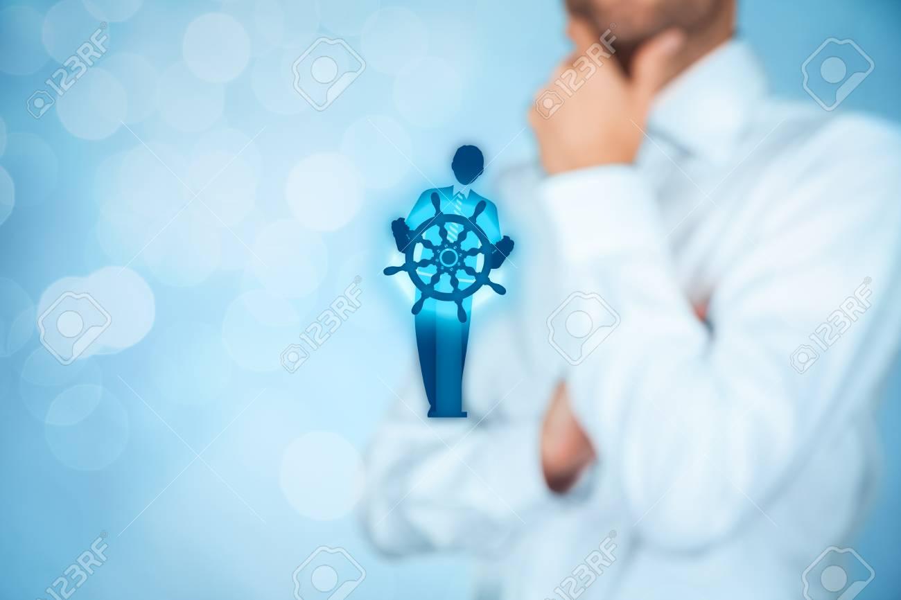 Business improvement and development concept  Captain (symbol