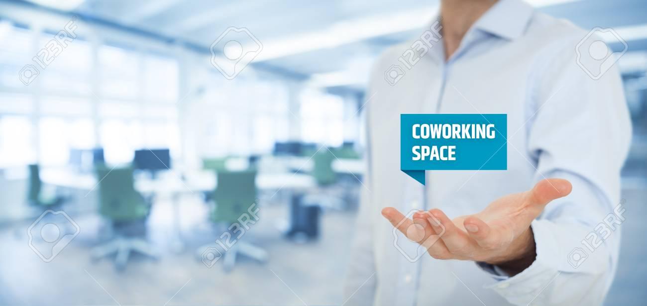 Angebot Coworking Space Des Geschäftsmannes Moderne Lösung Der