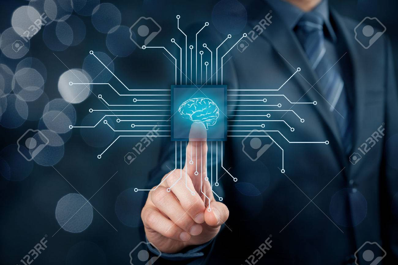 Artificial intelligence (AI), data mining, expert system software, genetic programming, machine learning, neural networks, nanotechnologies and another modern technologies concepts. - 70620628