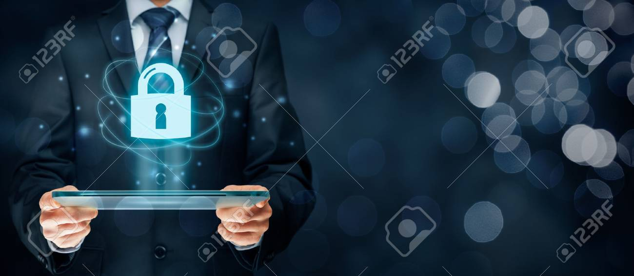 Cybersecurity and information technology security services concept. Login or sign in internet concepts. - 71920139