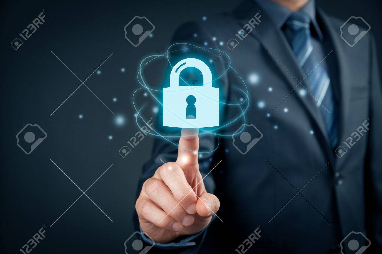 Cybersecurity and information technology security services concept. Login or sign in internet concepts. - 72201598