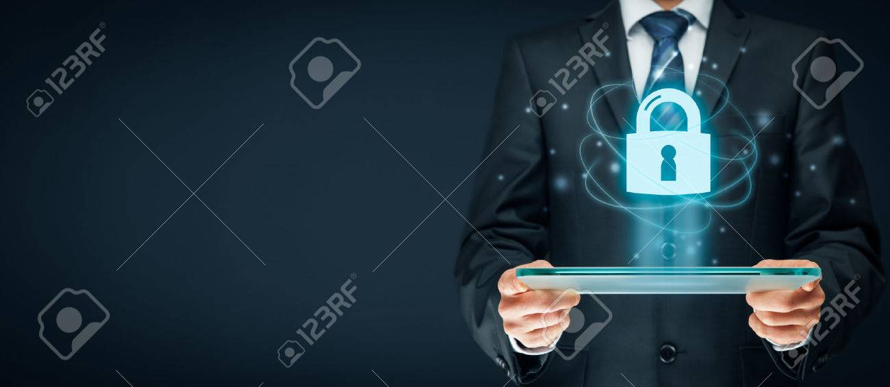 Cybersecurity and information technology security services concept. Login or sign in internet concepts. Banque d'images - 72300460