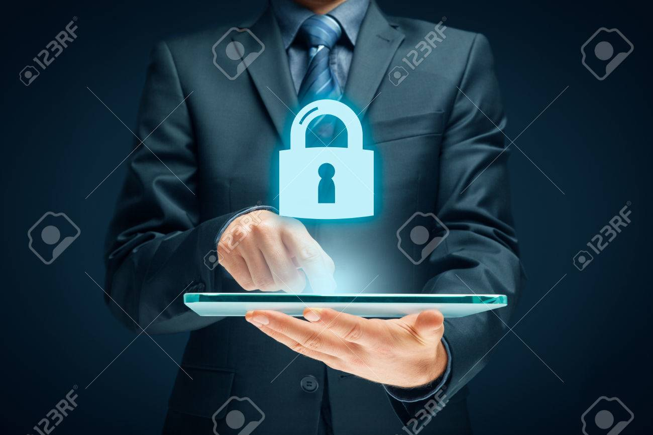 Cybersecurity and information technology security services concept. Login or sign in internet concepts. - 81118090