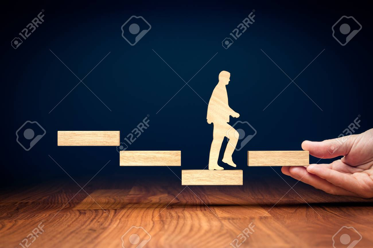 Motivation to change descend trend to rise. Challenge and potential to reverse negative progress to positive. Businessman motivate to change threat to opportunity. - 123491971