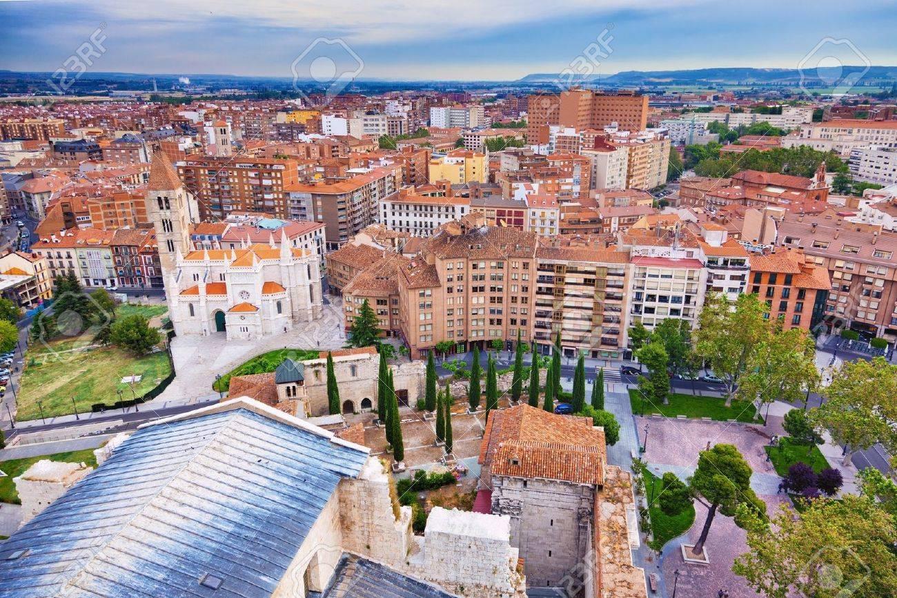 バリャドリッドのスカイライン、スペインの空撮 の写真素材・画像素材 ...