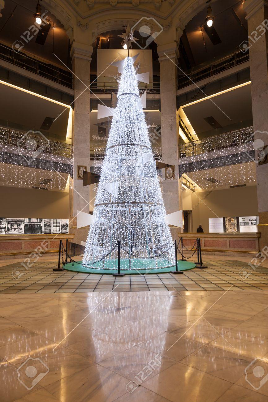 Modern Christmas Trees.Madrid Spain December 14 2012 Big Modern Christmas Tree
