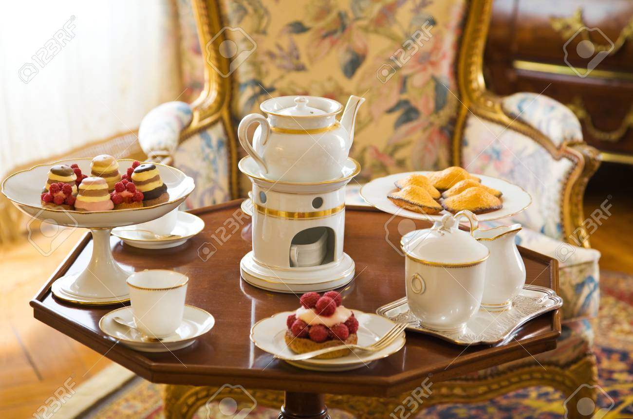 Stock Photo - Tea table setting & Tea Table Setting Stock Photo Picture And Royalty Free Image. Image ...