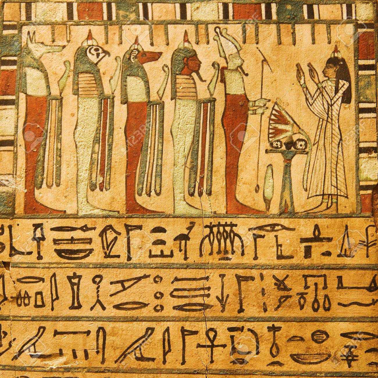 Ancient egyptian gods and hieroglyphics painted on stone stock ancient egyptian gods and hieroglyphics painted on stone stock photo 38299194 biocorpaavc