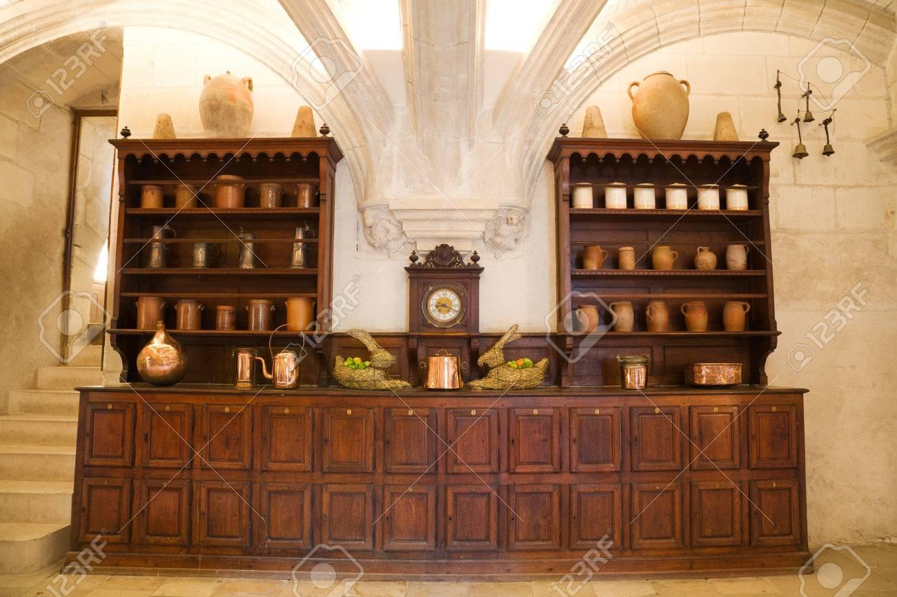 Alte Küche Vom Chenonceau Chateau, Frankreich Lizenzfreie Fotos ...