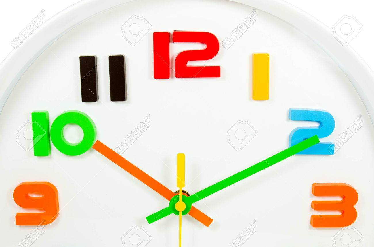 colourful wall clock  isolated Stock Photo - 17072705