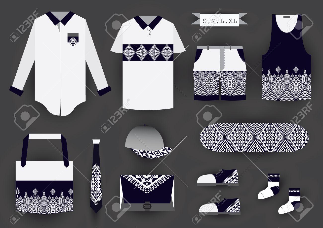 Corporate Design Fashion Set Template T Shirtclothingbagshoes
