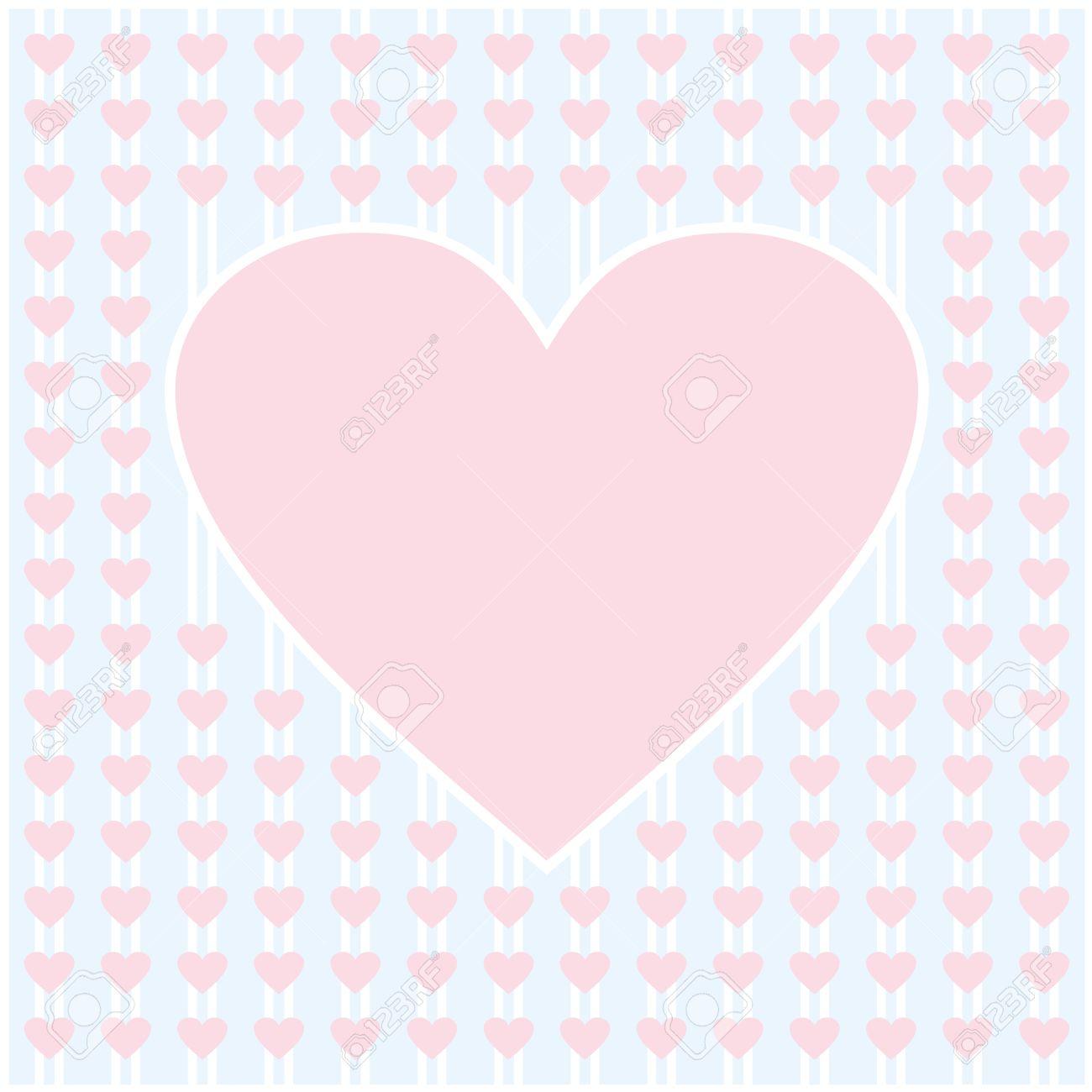 Frontera Del Corazón De Color Rosa Vector Marco De Diseño De Fondo ...