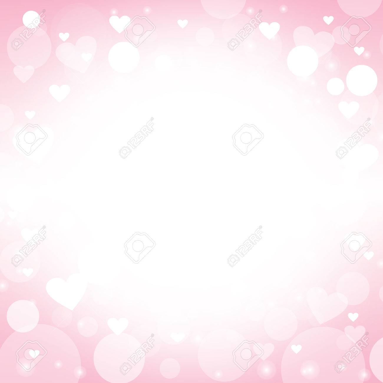 Heart Shape Vector Abstract Pink Background Design Ideas For