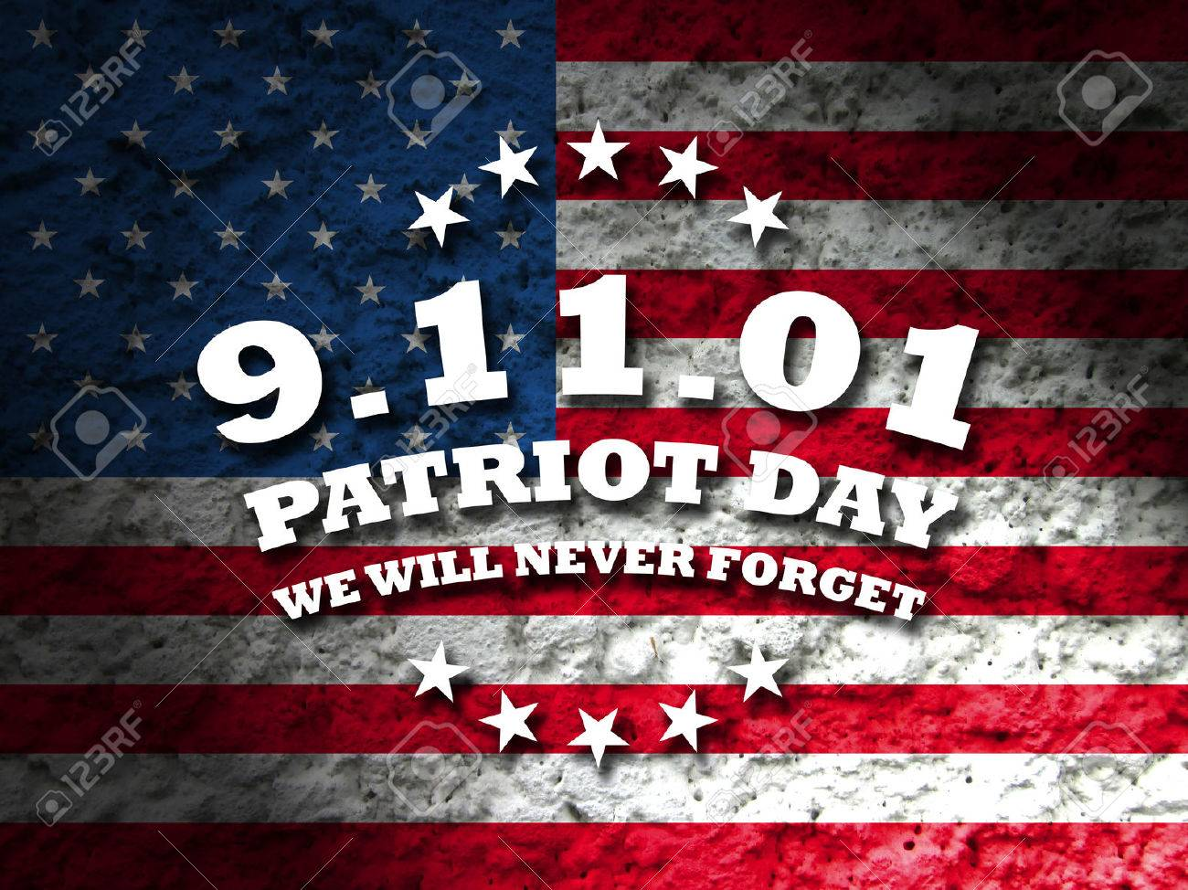 america september 11 patriot day card american flag background
