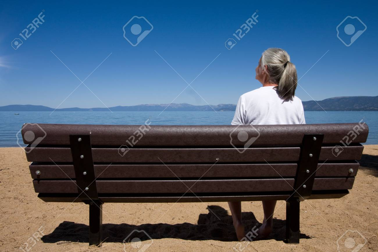 woman on bench Stock Photo - 3574655
