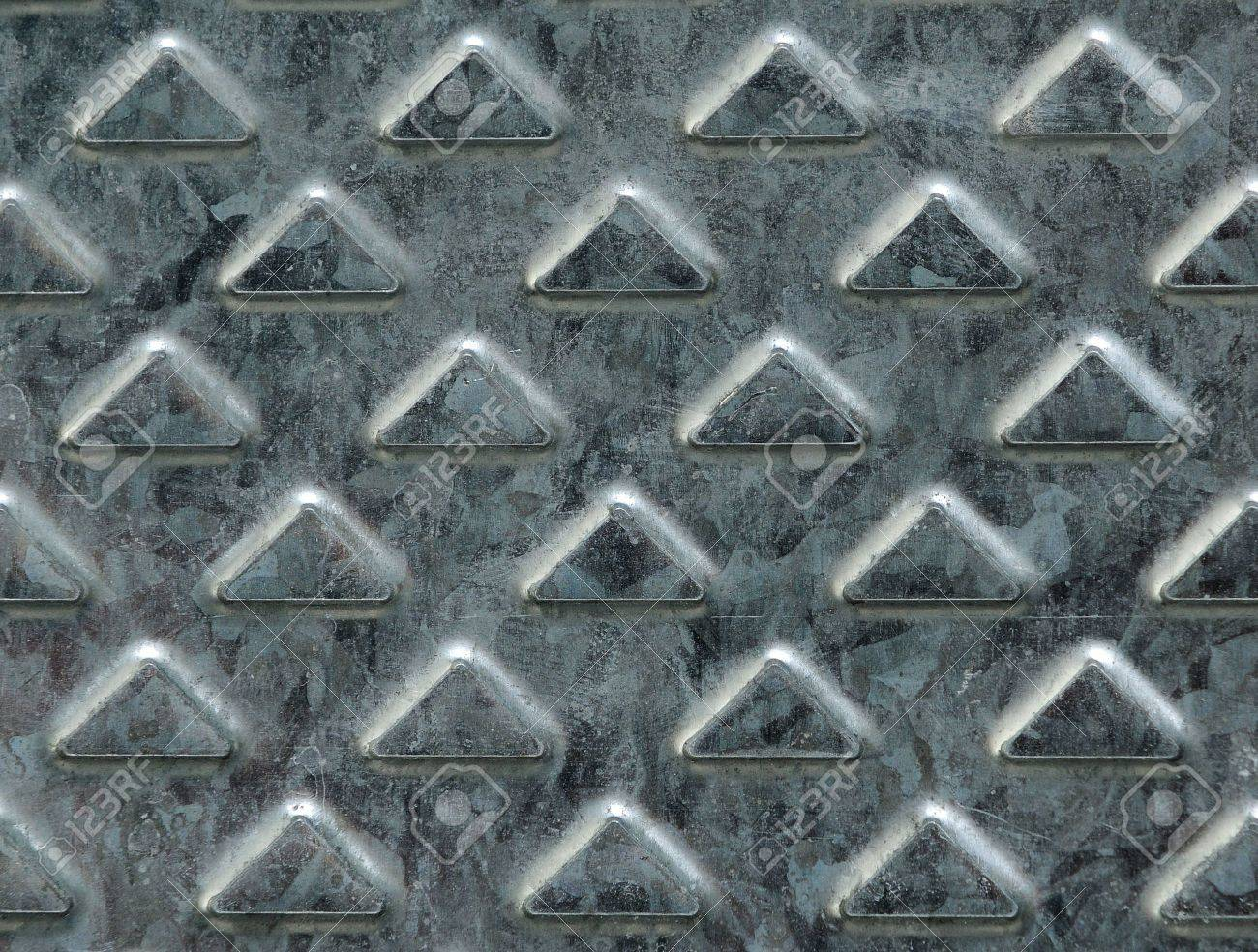 detail of old cold metal plate background Stock Photo - 4226784