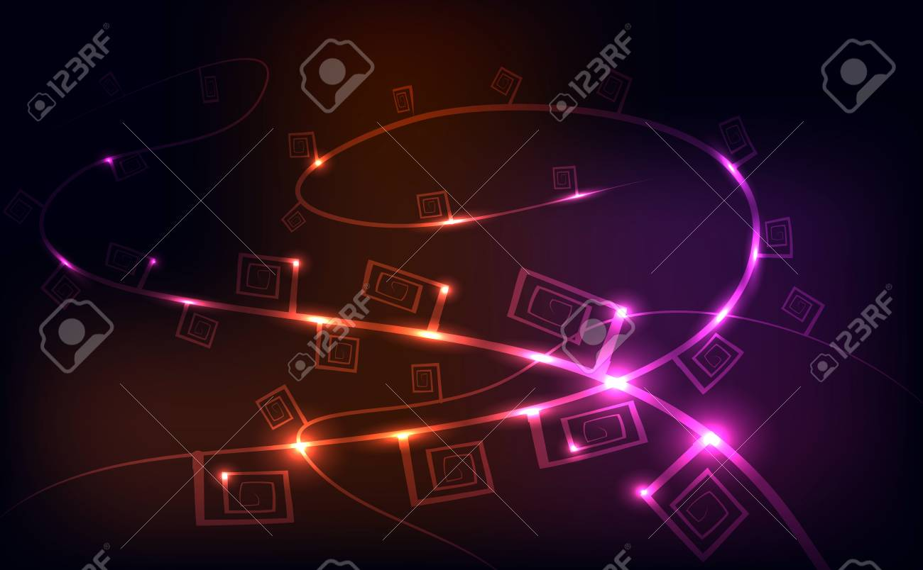 Stock Photo - String lights, color background wallpaper