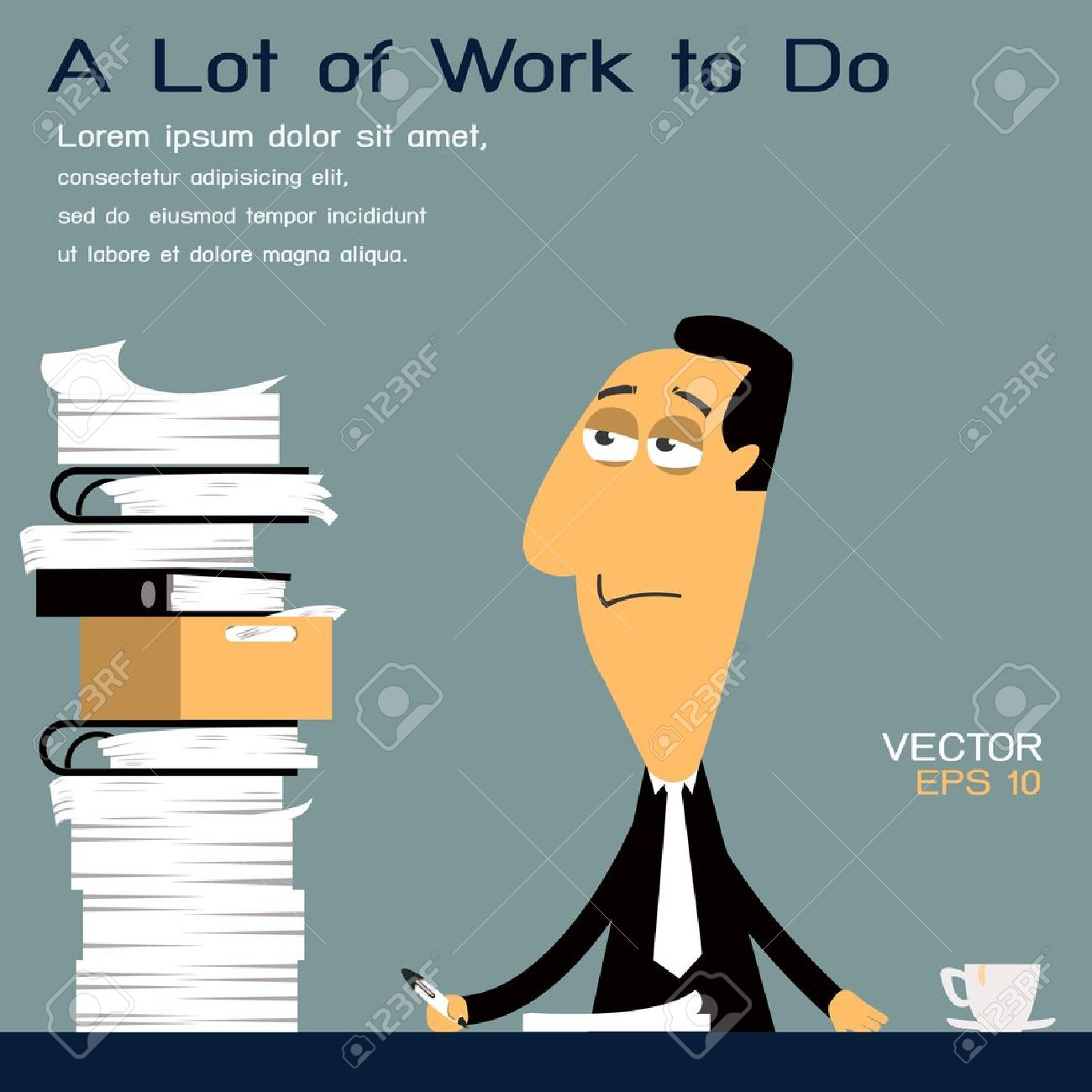 too much work to do royalty cliparts vectors and stock too much work to do stock vector 23286406
