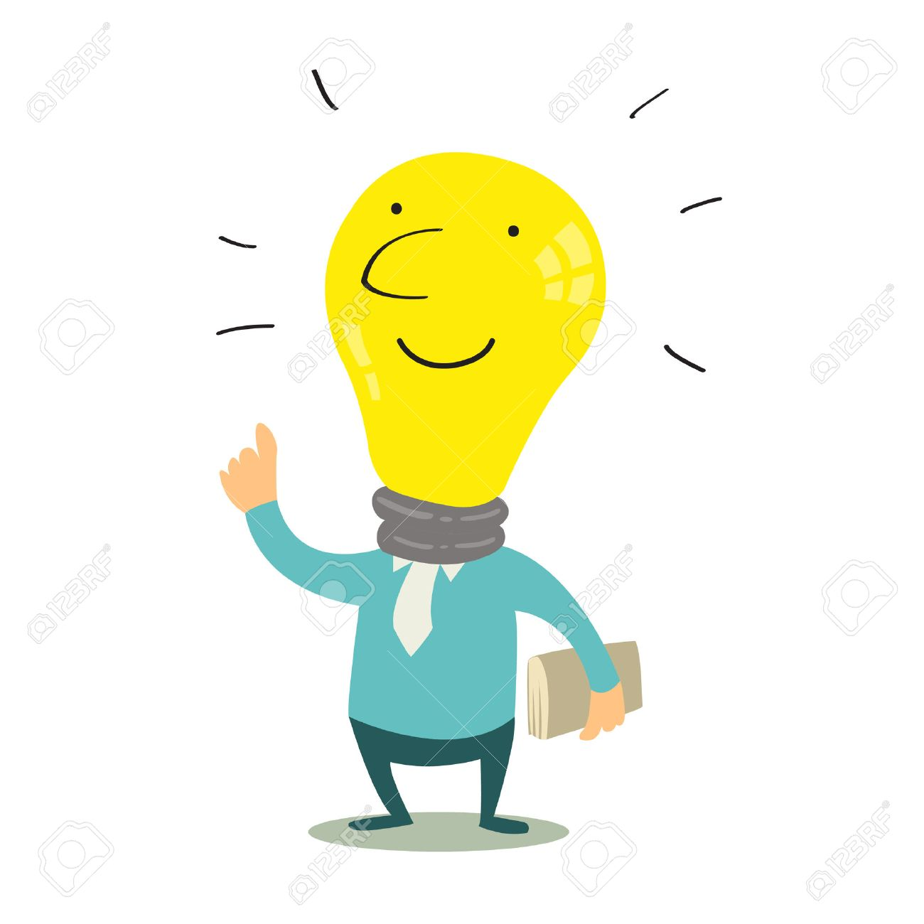 get idea with cute light bulb knowledge concept royalty free